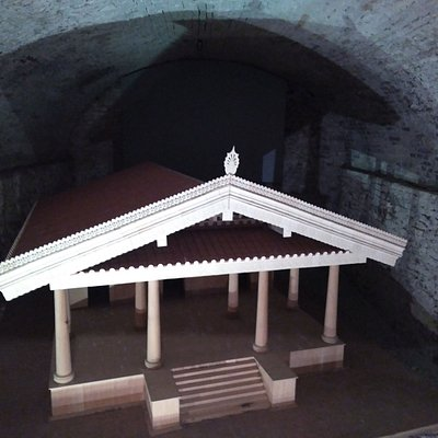 The wooden model of the Ortaglia sanctuary