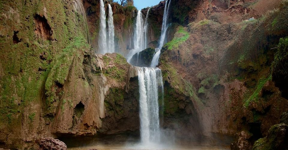 OUWOUD WATERFALLS THE HIGHIEST WATERFALLS IN MOROCCO . DESCOVER THE BERBER CULTURE IN ONE OF THE POPULRE VILLEGES IN MOROCCO AND SEE THE WONDERFULL VIEWS AROUND THE MOUNTAINS
