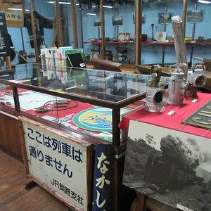 1989年に廃止された標津線に関する展示