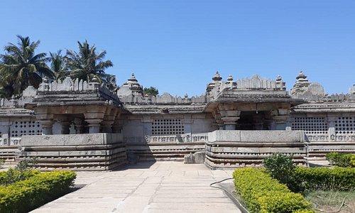 The Panchlingeshwara temple at Govindanahalli near Kikkeri in K.R.Pet (Tq) Mandya Dist. Karnataka.   The temple has been built in 1238 (13th century)  AD. by Palayagara of Govinda during the Hoysala period.