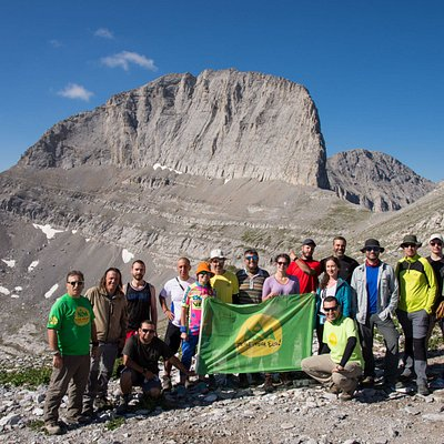 At the top of Olympus Mountain, during our established summer hiking in Olympus