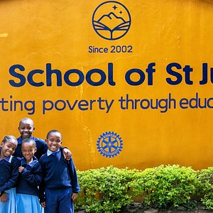 Students at the school's front gate - Sisia Primary School Campus