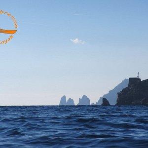 I faraglioni di Capri e Punta Campanella