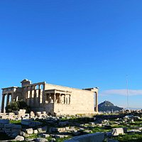 The Erechtheion or Erechtheum, Acropolis of Athens in Greece
