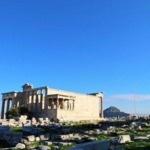 The Erechtheion or Erechtheum, Acropolis of Athens in Greece