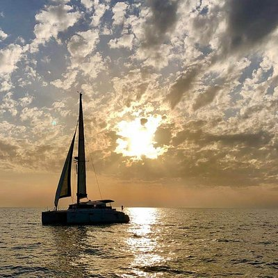 Sea Time catamaran on Tel aviv Mediterranean sunset It was an amazing experience  thanks to sea time staff they were super nice