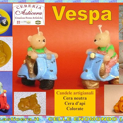 Candele in cera dedicate alla Vespa