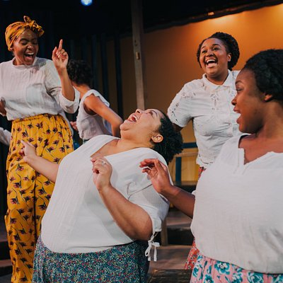 "2018 production of ""The Color Purple"" Pictured from left to right: Jessica Johnson, Ryane Nicole Studivant, Candace Benson, and Chelsea-Ann Jones) Photography by Alex Medvick"