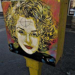 La fresque sur la boîte postale