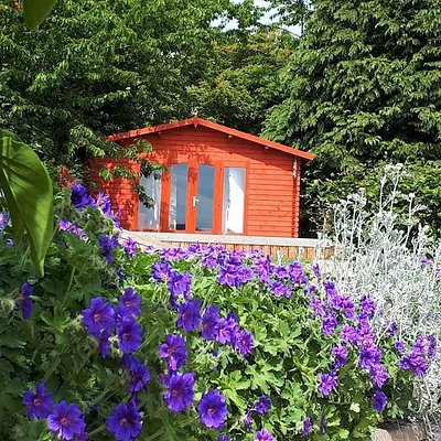 Karmic-Wellbeing chalet overlooking the Beauly Firth.