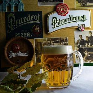 Pilsner Urquell on Tap and bottle