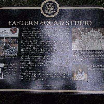 CANADA - TORONTO - EASTERN SOUND STUDIO - HISTORIC MARKER