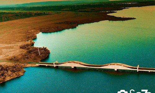 Lago Salto do Rio Verdinho, Rio Verdinho, Município de Caçu Estado de Goiás