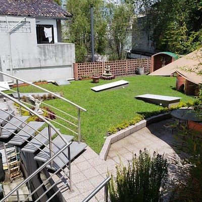 Un jardín simpatico, relajante y agradable