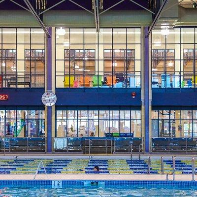 Aquatic Centre, Genesis Place viewing area.