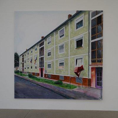 "Yves Bélorgey (exhibition ""Schwarze Spiegel"", 26-1 till 17-3-2019, with permission of the artist)"