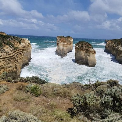 Stunning coastline on the Great Ocean Road