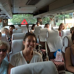 Happy Fellowship guest on their way to learn and practice Yoga