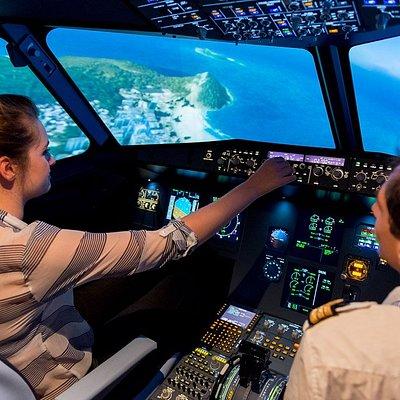 Simulateur de vol avion de ligne