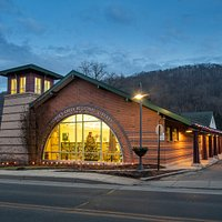 George's Creek Library: Exterior at Night