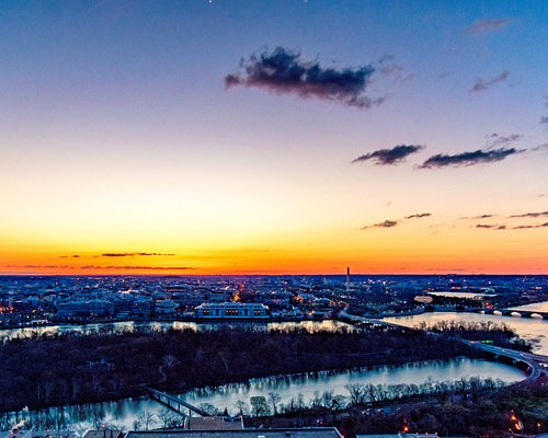 Sunrise over Washington, DC from The Observation Deck.