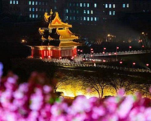 Forbidden city night view