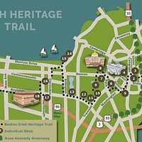 Boston's Irish Heritage Trail map