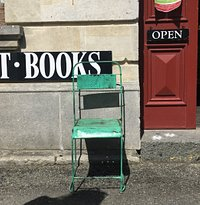 nice chair outside the shop
