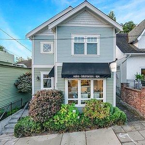 Exterior: Intermezzo Salon & Spa Seattle; Galer Street on Queen Anne Hill