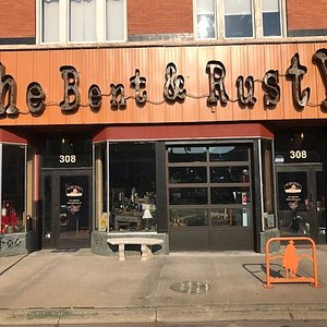 The Bent & Rusty store front in historic downtown Laramie
