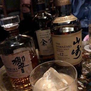 Selection of Japanese whiskey