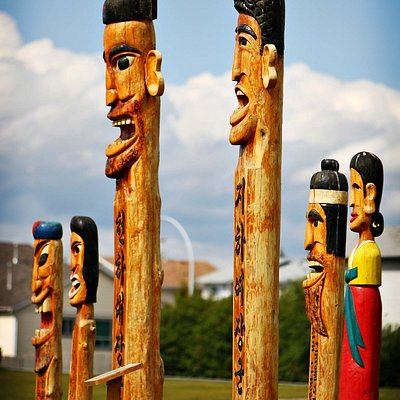 The famous totem poles of Gwacheon Park, Airdrie AB
