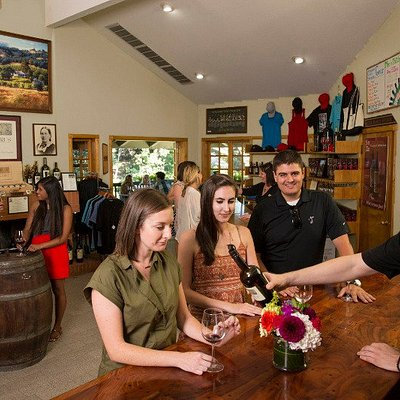 Our tasting room is open 10 am - 5pm daily.  Enjoy samples of our award winning wines, learn about the estate and enjoy the views in our friendly tasting room.  (Complimentary for less than 10 guests.  Groups of 10 or more - $15 per guest, call for information and reservation)