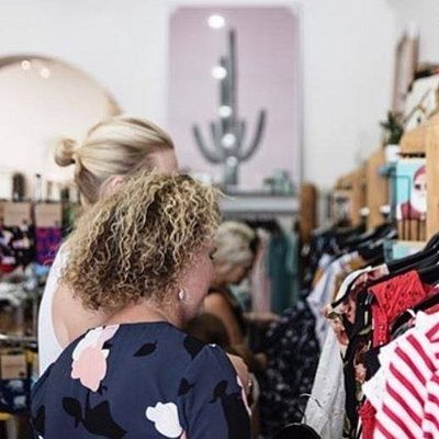 Some lovely shoppers having a browse at our store in Port Fairy.