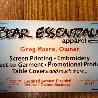 Bear essentials Apparel