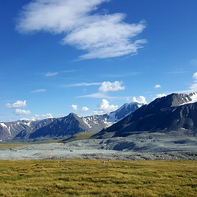 From atop of the peaks in Tavan Bogd National Park you can see Russia, China, and Kazakhstan!