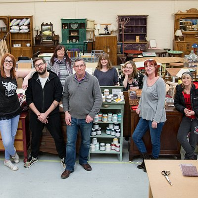 A glimpse of our team and showroom area of the workshop