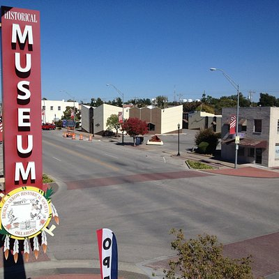 VIEWS FROM INSIDE THE MUSEUM, DOWN MAIN STREET