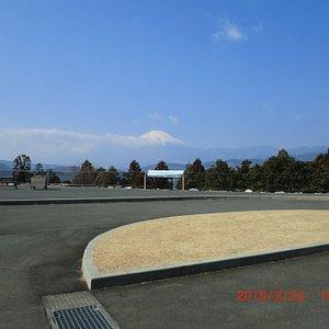 駐車場からの富士山