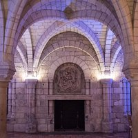 Uplighting in Chapter House at Worcester Art Museum
