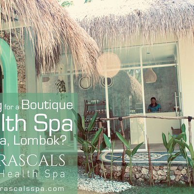 The entrance to 'Racals Health Spa'.  Just inside the hotel grounds of Rascals Kuta Lombok www.rascsalskutalombok.com. . . Check our www.rascalsspa.com for our full range of treatments and packages.