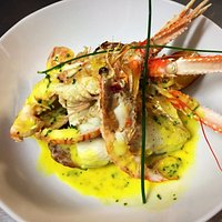 Treat yourself to this fantastic fillet of Turbot with Scottish Langoustine and a Saffron butter sauce. (Seasonal Special)