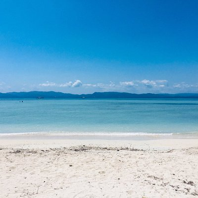 Cagbalete beach. It is cleaner than the other beaches in Luzon e.g. Batangas.