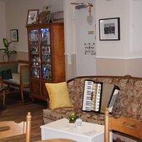 Unser gemütliches Chipendale Sofa.