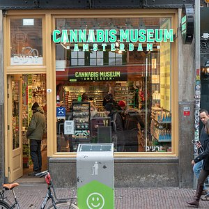 When you enter the Cannabis Museum you will fin the store. On the left side of the store you will find the desk where you can get your tickets for the museum.