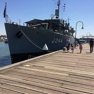 HMAS  Castlemaine at Gem Pier