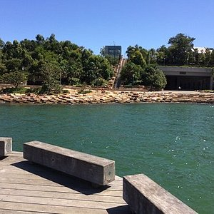 A View Of Nawi Cove With Barangaroo Reserve In The background