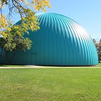 Longway Planetarium is known for its iconic teal dome, a well-loved Flint landmark in the Cultural Center campus.