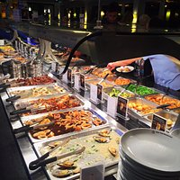 Nice size Chinese buffet to include Mongolian Grill and sushi.