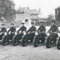 The first motorcycles purchased by Essex County Constabulary for use in the experimental patrol scheme.